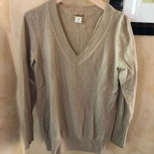 J. Crew 100% Cashmere Sweater — Camel